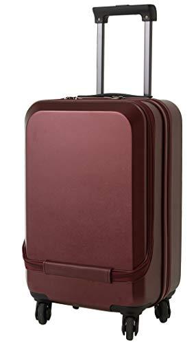 ラッキーパンダ luckypanda TY5801 スーツケース フロントオープン ファスナータイプ TSAロック 機内持ち込み 小型 Sサイズ 300円 コインロッカー サイズ 対応 (マットワインレッド)