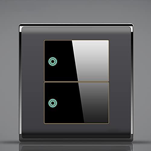 SYunxiang Interruptor basculante de Metal con inserción Negra clásica Interruptor de Palanca de Panel de Interruptor de luz de Palanca de Control Dual Antiguo