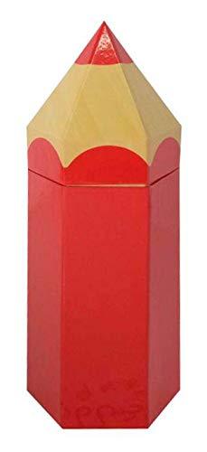 Idena 31416 - Geschenkbox Stift, Größe 104x9x27 cm, Rot, Geschenkverpackung, Schulanfang, Stiftebox, 1. Schultag, Einschulung