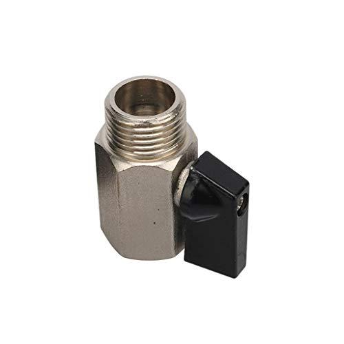 Válvula De Bola Mini De Latón, Válvulas De Compresor De Aire De BSP Air Femeninas Agua De Gas De Gas De Cierre De Aceite 1/8'1/4' 3/8'1/2' Roscado (Size : 1/4')
