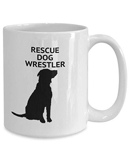 Rescue Dog Wrestler White Coffee Cups-11OZ Sistermug, Weihnachten und New Year Geschenk, Cuple Geschenk, Tea Cup Office Work Latte Drink Geschenk