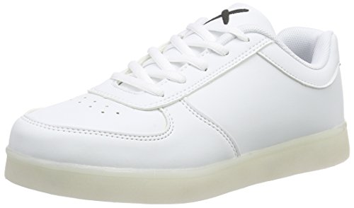 wize & ope Unisex-Erwachsene LED Low-Top, Weiß (White 01), 43 EU