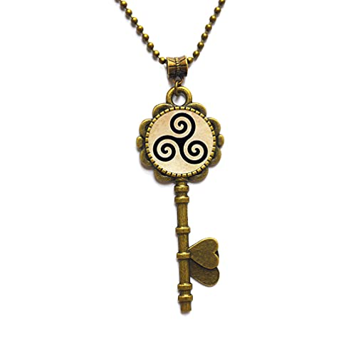 Triskele Triskelion Allison Key Necklace&Pendant Handmade Key Necklace,Trendy Gift,Christmas Gift,PU051