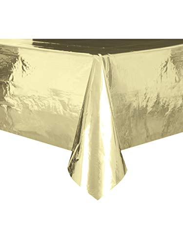 Unique Party Supplies 50411 Table Cover, Kunststoff, gold, 9 x 4.5 ft