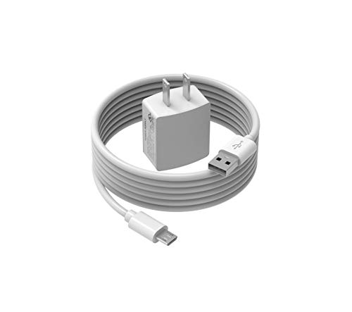 AC Charger Adapter Fit for Amazon Kindle Paperwhite E-reader with 5ft Micro USB Cable(White)