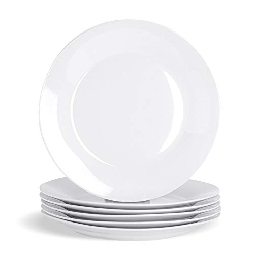 Argon Tableware Large Classic Rimmed White China Dinner Plate - 300mm - Pack of 12