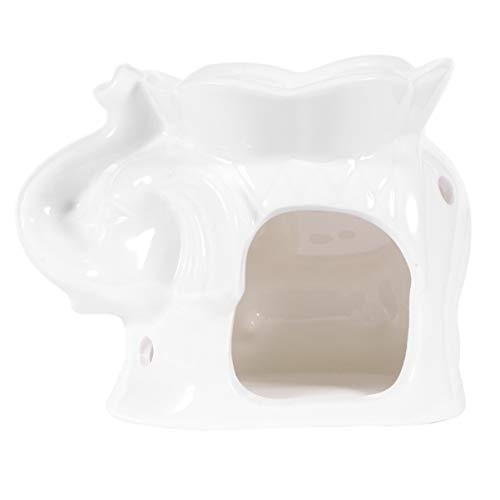 SUPVOX Candelabro de Cerámica Candelabro Quemador de Aceite Esencial Elefante Decoración de Mesa Aromaterapia Cera Quemador de Vela Difusor de Aroma