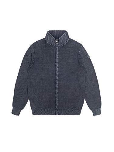 NORTH SAILS Uomo Cardigan in Blu Navy Cotone con Collo Alto - vestibilità Regular e Fissaggio con Cerniera - M