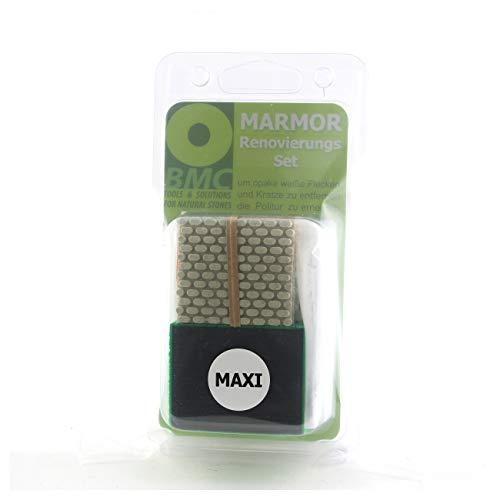 BRICO MARBLE CARE MARMOR RENOVIERUNGSSET Maxi zum Polieren von Marmor durch Säurekorrosion beschädigt