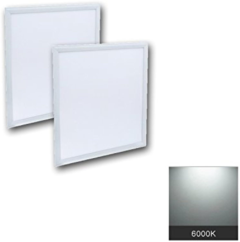 2 x LED Panele 40W 600 x 600 mm Quadrat, Trafo inkusive Farbtemperatur 6000K Tageslicht