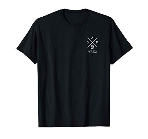 Herren Dad 2021 werdender Vater Bier Vatertag Nachwuchs Geschenk T-Shirt