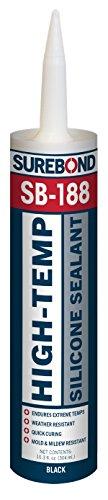 Surebond-SB-188 T High-Temp Silicone Sealant, 10.3 fl. oz. Cartridge - Black