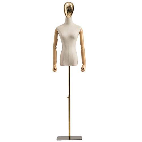 RZEMIN ZEMIN Maniquí de Costura, Forma de Vestido de Sastre con Cabeza y Brazos, Exhibición de Tienda Ropa Modelo Maniquí Femenino Ajustable en Altura, 2 Tamaños (Color : B, Size : Small)