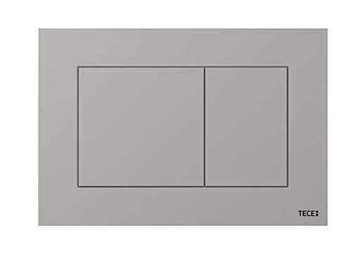 TECE Now Betätigungsplatte für WC (Chrom glänzend, Zweimengentechnik, bedienbar von Oben und vorne) 9240401, grau