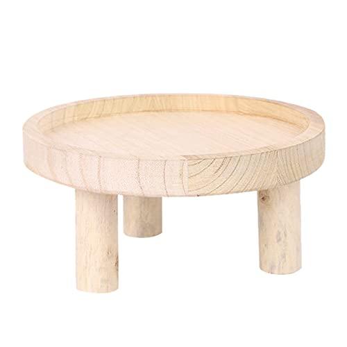 KUGF Portavaso in legno per piante da giardino, piccolo sgabello artistico, per piante e piante grasse, contenitore per bonsai, rack moderno, per interni ed esterni, in legno, decorazione per la casa