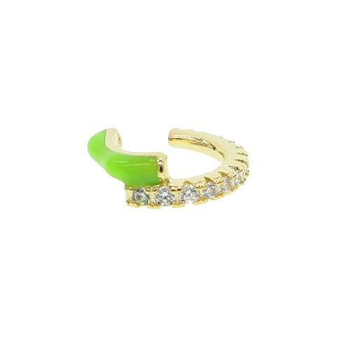 sin piercing de neón esmalte de la oreja del brazalete del pendiente colorido de la moda de las mujeres joyas