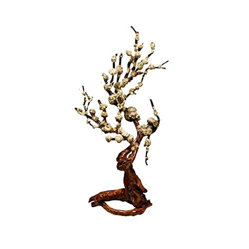 132cm / 51.9in Crape Artificial Myrtle Plum Blossom Tree, Bloqueo de Pantalla Interior, Casa Club, Hotel de jardinería Decoración de la decoración Árbol Falso (Color : A)