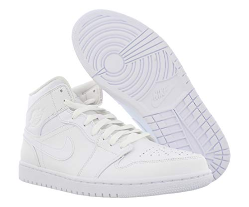 Nike Air Jordan 1 Mid, Chaussures de Basketball Hommes, Gym Red/White/Black, 44.5 EU