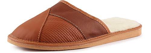 Ladeheid Pantuflas Zapatillas de Casa Hombre LAFA014 (Marrón-2, 40 EU)