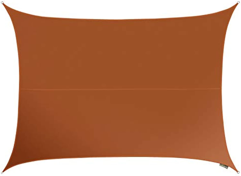 Kookaburra 5,0m x 4,0m Rechteck Terrakotta Gewebtes Sonnensegel (Wasserfest)