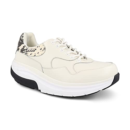 Gravity Defyer Women's G-Defy Moranit Athletic Shoes 6 M US - Hybrid VersoShock Proven Performance Shock-Absorbing Leather Pain Relief Shoes White
