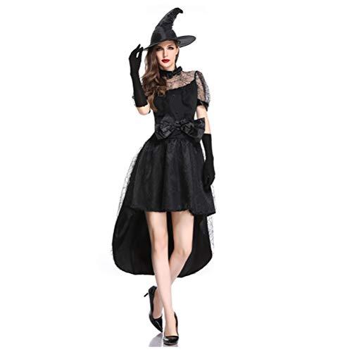 YPEZ Disfraz De Halloween para Mujer, Disfraz De Novia Sexy, Tela Cmoda, Disfraz De Halloween para Varias Fiestas De Baile, Carnavales(Color:Disfraz de Bruja A,Size:SG)
