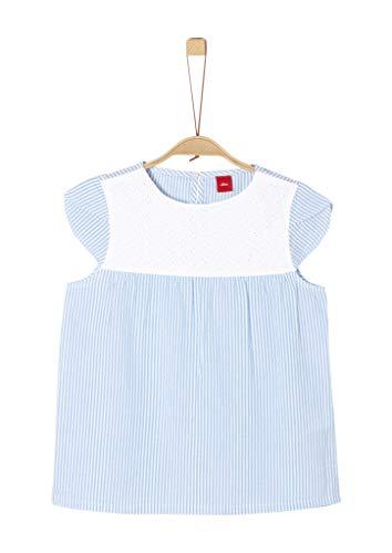 s.Oliver Mädchen 66.903.12.2396 Bluse, Blau (Blue Stripes 53n1), 140 (Herstellergröße: S/REG)