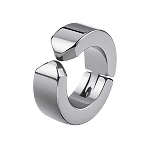 Yosemite 1 clip de acero de titanio para hombre, sin perforación, pendientes de aro personalizados, para oreja, joyería de plata