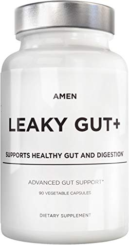 Amen Leaky Gut Supplements, Advanced Gut Support with Bioavailable L Glutamine Licorice Root (deglycyrrhizinated) Zinc Probiotics & Fermented Prebiotics to Support Healthy Gut and Digestion, 90 Count