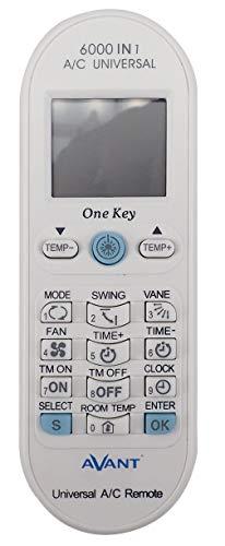 Avant – universele afstandsbediening voor airconditioning. 600 codes in één. Geschikt voor de huidige modellen. One Key knop. LCD-scherm omgevingstemperatuurweergave