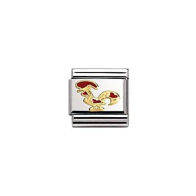 Nomination Composable Classic LAENDERSYMBOLE Stahl, Lack und Gold 18k () 030262