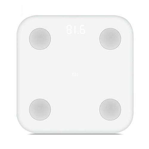 BHJqsy Básculas de baño de Peso Digital de Alta precisión con tecnología Paso a Paso, Que Incluyen Cinta de medición volumétrica, 28st / 180kg / 400lb, Pantalla retroiluminada