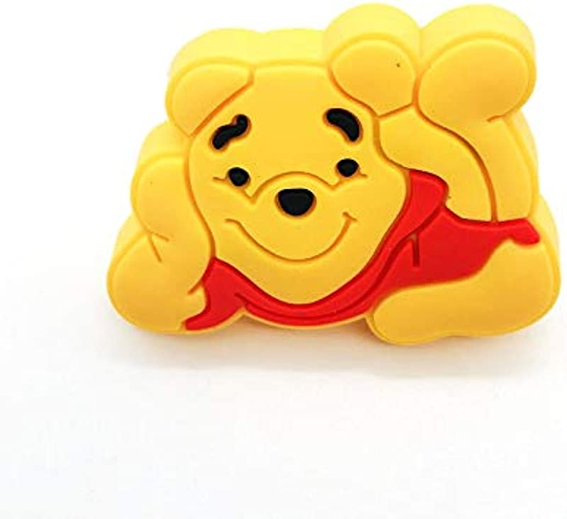 Cabinet Hardware Cute Cartoon Knobs And Handles For Children Safety Furniture Handle Soft Yellow Bear Door Knob Kids Drawer Pulls Cabinet Handle