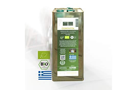 Corovita Bio-Olivenöl   natives Olivenöl extra   Bio   aus Griechenland   Region Messenien   5 Liter Kanister   kaltgepresst   Hersteller: Fam. Kotrotsis