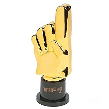 Plastic Gold Trophies Oscar Trophy Thumbs Up Trophy High Five Trophy Youre #1 Trophy Star Trophy Banana Trophy Rock Star Trophy by Playscene  5  Inch You re #1-12 Pack