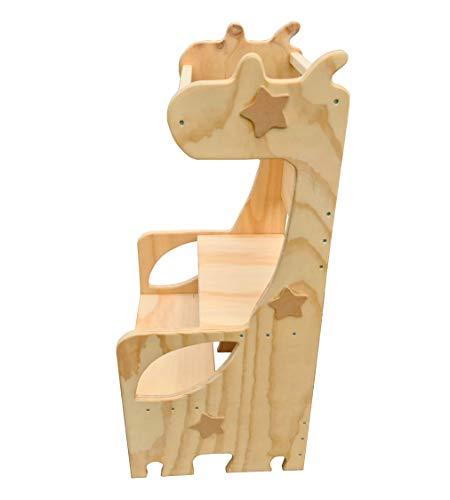 SweetHoney Learning Tower Raffa La Giraffa Metodo Maria Montessori Torre Montessoriana Sicurezza Bambini Scaletta Sgabello in Legno Naturale attività Cucina Giochi Apprendimento