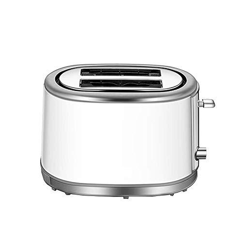 SXSHYUFG Tostadora 2 Ranuras, Tostadora para Tostada Pan de Acero Inoxidable Automática 2 Discos, con Bandeja Extraíble, 6 Niveles de Tostado, White