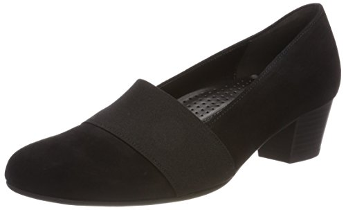 Gabor Shoes Damen Comfort Fashion Pumps, Schwarz, 40.5 EU