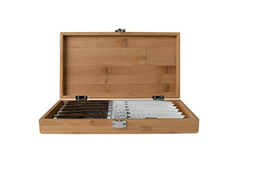 Shun Premier 6 Piece Steak Knife Set with Bamboo Storage Box