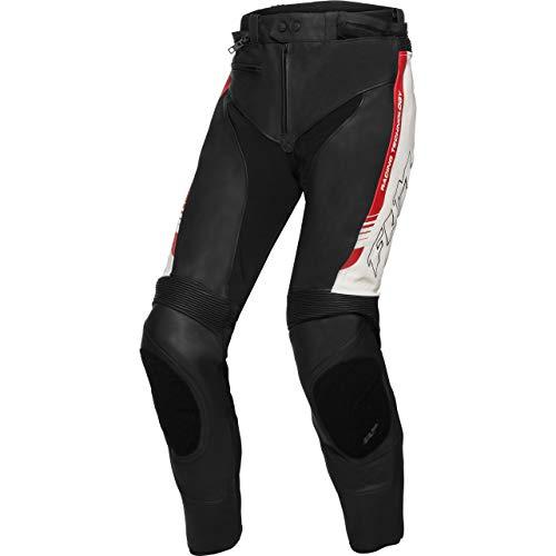 FLM Kombihose Lederkombi Motorradhose mit Protektoren Sports Leder Kombihose 2.1 schwarz/weiß/rot 58, Herren, Sportler, Ganzjährig