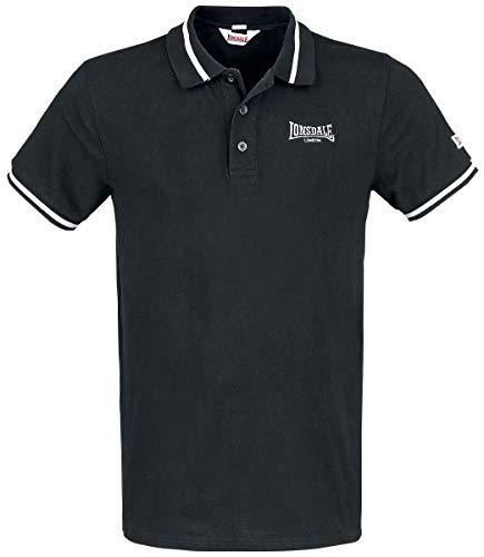 Lonsdale London Causton Männer Poloshirt schwarz 3XL 100% Baumwolle Basics, Casual Wear, Streetwear