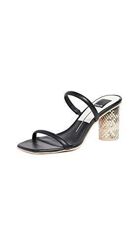 Dolce Vita Women's Noles Double Strap Slides, Black, 8.5 Medium US