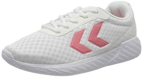 hummel Unisex-Erwachsene Legend Breather Sneaker, White/PINK,44 EU