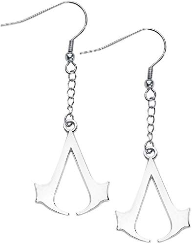Assassin's Creed Earring s With Creed Logo Silver