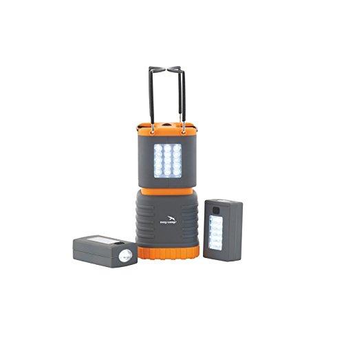 Easy Camp Sinai Lanterne Mixte, Grau/Weiss/Orange, Taille Unique