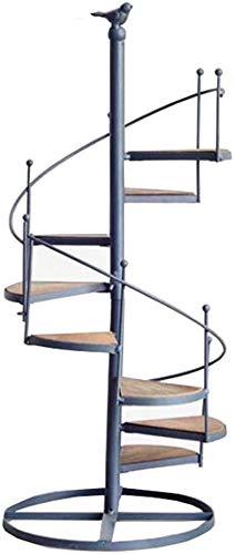 Home Storage Rack/Wandschmuck Designer Regal Drehen Ladder 8 Tier-Blumen-Racks Eisen-Metallblumen-Regale Steht Regal for 8 Pflanzen Blumentöpfe Halter for Garten/Innen Wohnzimmer/Balkon Speicher