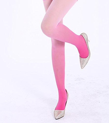 グラデーション ストッキング カラーパンスト ピンク