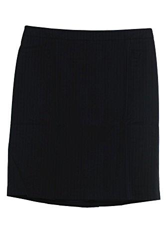 sheego Rock Skirt Bleistiftrock Damen Plusgröße Übergröße Nadelstreifen Viskose, Farbe:dunkelblau;Damengrößen:52