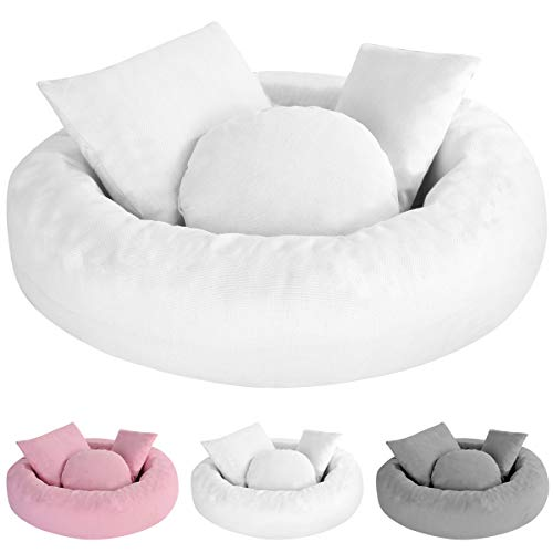 5 Stk. Neugeborene Baby Fotografie Requisiten Donut Kissen Posing Kissen Baby Korb Füller Kit Halbmond Posiert Kissen Korb Füller für 0-3 Monate