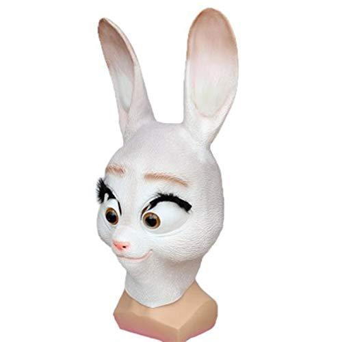 POOO Mscara de Conejo Linda, Tocado de Animal Loco, Accesorios de Dibujos Animados de Cosplay de Personaje de Mascarada